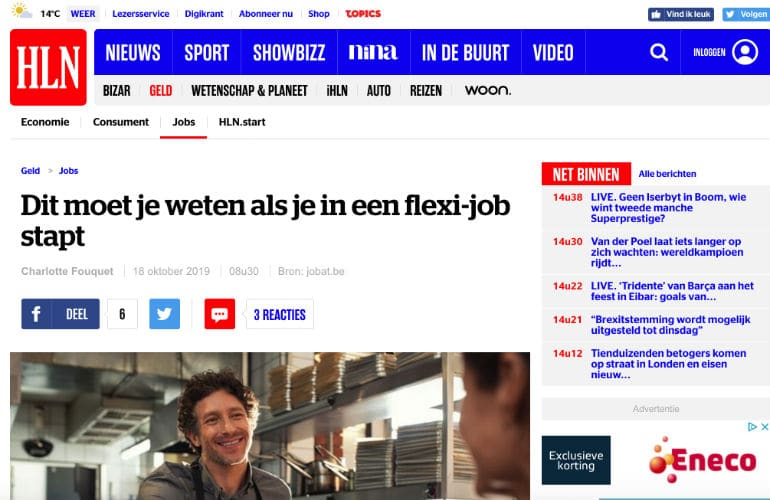 My Flexi-Job op HLN.be